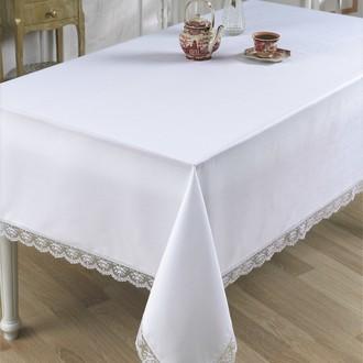 Скатерть прямоугольная Karna SIESTAL полиэстер (белый)