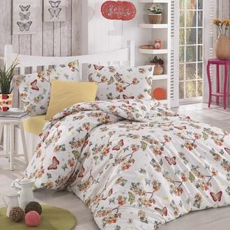 Комплект постельного белья Altinbasak BUTTERFLE ранфорс хлопок (абрикосовый)