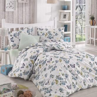 Комплект постельного белья Altinbasak BUTTERFLE ранфорс хлопок (голубой)