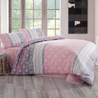 Комплект постельного белья Altinbasak SANTANA хлопковый ранфорс (розовый)