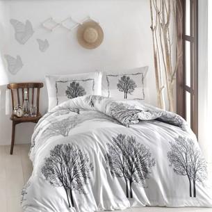 Постельное белье Altinbasak TREE хлопковый ранфорс серый 1,5 спальный