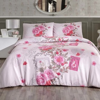 Постельное белье Altinbasak SARDINYA хлопковый ранфорс розовый