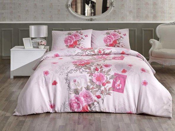 Комплект постельного белья Altinbasak SARDINYA хлопковый ранфорс (розовый) 1,5 спальный, фото, фотография