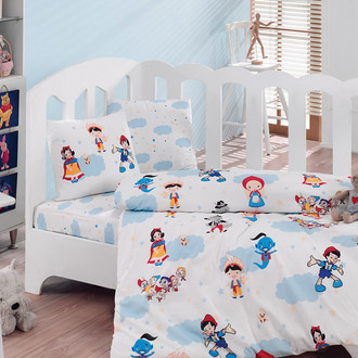 Комплект детского постельного белья в кроватку Cotton Box 1042-35 хлопковый ранфорс