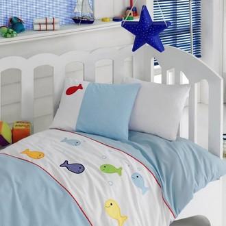 Комплект детского постельного белья в кроватку Cotton Box 1007-02 хлопковый ранфорс