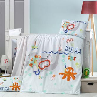 Комплект детского постельного белья в кроватку Victoria BABY BLUE SEA хлопковый ранфорс
