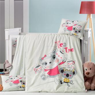 Комплект детского постельного белья в кроватку Victoria BABY TEA TIME хлопковый ранфорс