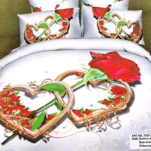 Постельное белье Tango TS-67A хлопковый сатин 1,5 спальный нав. 50х70 см