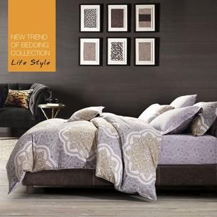 Постельное белье Tango TS-666 хлопковый сатин 2-х спальный нав. 70х70 см