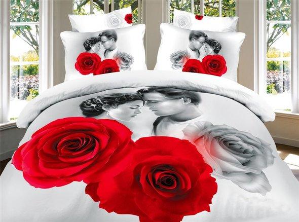Комплект постельного белья Tango TS-748 хлопковый сатин 2-х спальный (нав. 50*70 см), фото, фотография