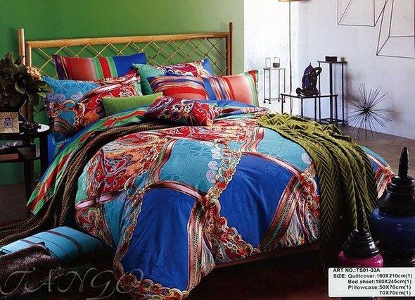 Комплект постельного белья Tango TS-33A хлопковый сатин 1,5 спальный, фото, фотография
