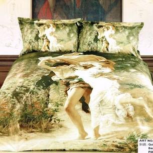 Постельное белье Tango TS-19A хлопковый сатин 1,5 спальный нав. 70х70 см