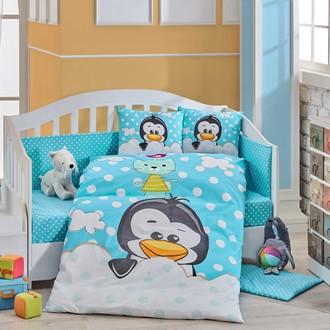 Комплект постельного белья Hobby Home Collection PENGUIN хлопковый поплин (синий)