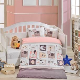 Постельное белье Hobby Home Collection SWEET HOME хлопковый поплин розовый ясли