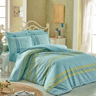 Комплект постельного белья Hobby Home Collection EMMA хлопковый поплин (бирюзовый)