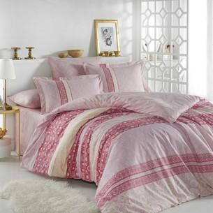 Постельное белье Hobby Home Collection EMMA хлопковый поплин розовый 1,5 спальный