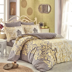 Постельное белье Hobby Home Collection MIRELLA хлопковый поплин кофейный 1,5 спальный