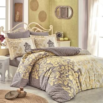 Комплект постельного белья Hobby Home Collection MIRELLA хлопковый поплин (кофейный)