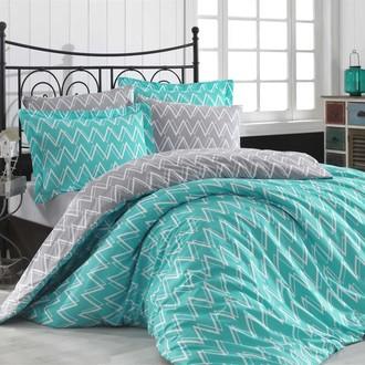 Комплект постельного белья Hobby Home Collection NAZENDE хлопковый поплин (бирюзовый)