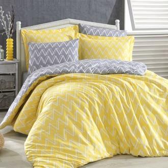 Комплект постельного белья Hobby Home Collection NAZENDE хлопковый поплин (жёлтый)
