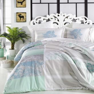 Комплект постельного белья Hobby Home Collection ELSA хлопковый поплин (аква)
