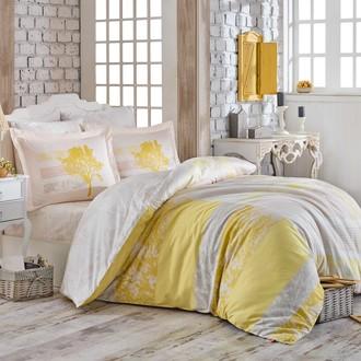 Комплект постельного белья Hobby Home Collection ELSA хлопковый поплин (жёлтый)