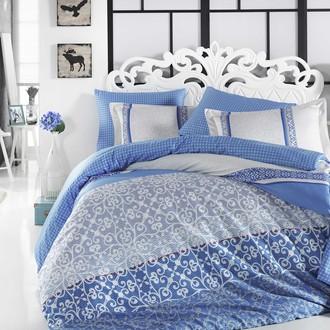 Комплект постельного белья Hobby Home Collection LAURA хлопковый поплин (синий)