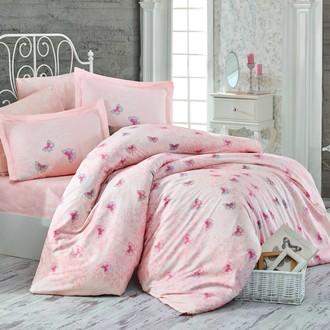 Комплект постельного белья Hobby Home Collection MARIA хлопковый поплин (персиковый)