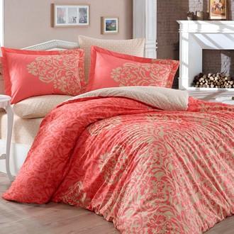 Комплект постельного белья Hobby Home Collection SERENITY хлопковый поплин (персиковый)