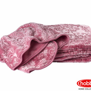 Покрывало Hobby Home Collection YELIZAVETA велсофт тёмно-розовый 220х240