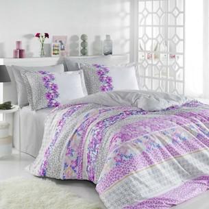 Постельное белье Hobby Home Collection SCARLET хлопковый поплин серый 1,5 спальный