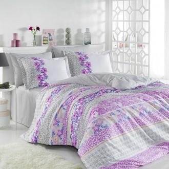 Комплект постельного белья Hobby Home Collection SCARLET хлопковый поплин (серый)