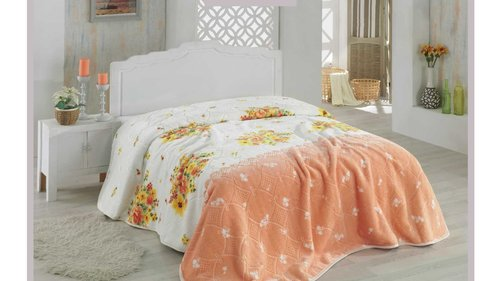 Покрывало Hobby Home Collection ALVIS велсофт персиковый 220х240, фото, фотография