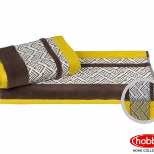 Полотенце для ванной Hobby Home Collection NAZENDE хлопковая махра жёлтый 70х140