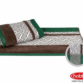 Полотенце для ванной Hobby Home Collection NAZENDE хлопковая махра зелёный