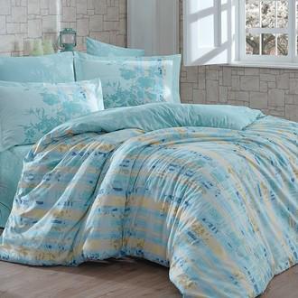 Комплект постельного белья Hobby Home Collection ELENORA хлопковый поплин (зелёный)