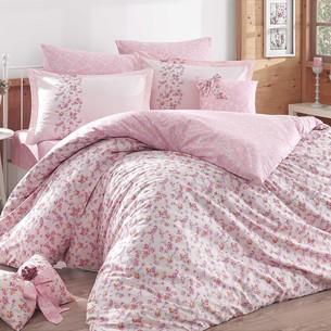 Постельное белье Hobby Home Collection LUISA хлопковый поплин розовый 1,5 спальный