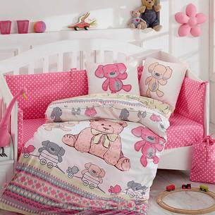 Постельное белье для новорожденного с покрывалом Hobby Home Collection TOMBK хлопковый поплин розовый