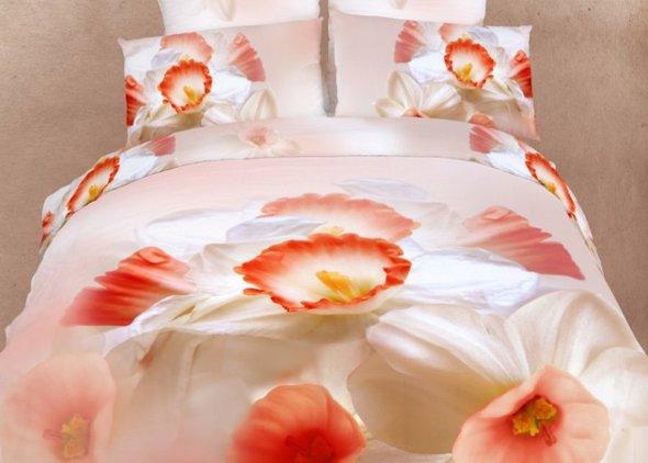 Комплект постельного белья Tango TS-206 хлопковый сатин 2-х спальный (нав. 70*70 см), фото, фотография
