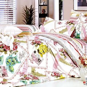 Постельное белье Tango TS-184 хлопковый сатин 2-х спальный нав. 70х70 см