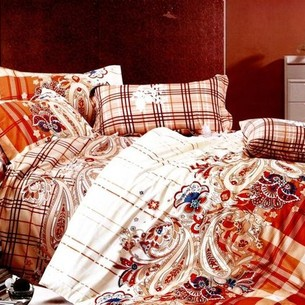 Постельное белье Tango TS-073 хлопковый сатин 2-х спальный нав. 70х70 см