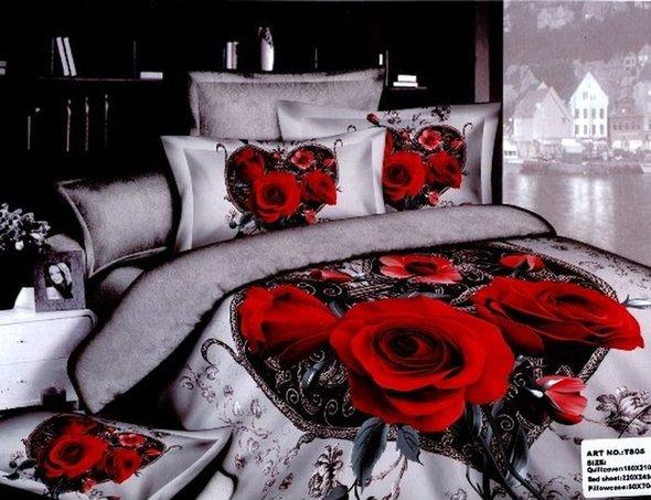 Комплект постельного белья Tango TS-038 хлопковый сатин семейный, фото, фотография