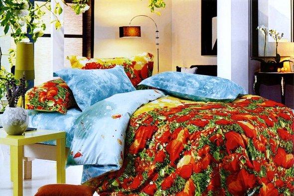Комплект постельного белья Tango TS-017/2 хлопковый сатин семейный, фото, фотография