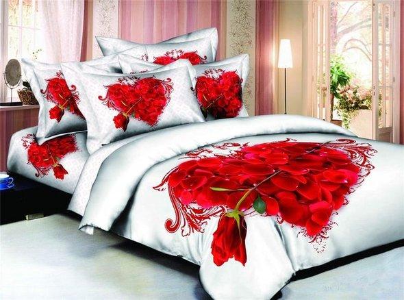 Комплект постельного белья Tango TS-817 хлопковый сатин семейный, фото, фотография
