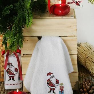 Полотенце в подарочной упаковке Karna NOEL 30*50 хлопковая махра (V1)