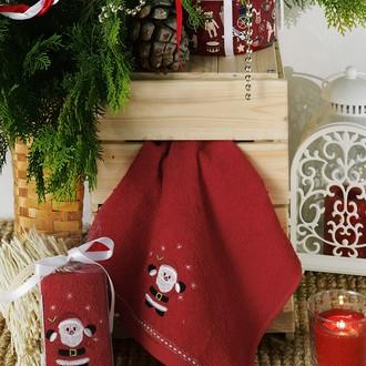 Полотенце в подарочной упаковке Karna NOEL 30*50 хлопковая махра (V5)