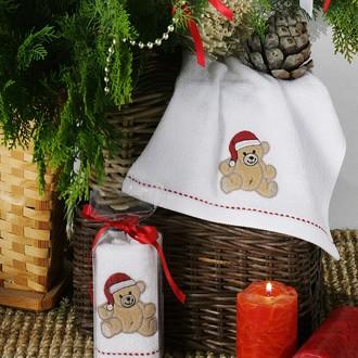 Полотенце в подарочной упаковке Karna NOEL 30*50 хлопковая махра (V2)