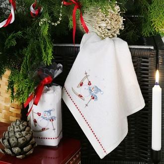 Полотенце в подарочной упаковке Karna NOEL 30*50 хлопковая махра (V3)