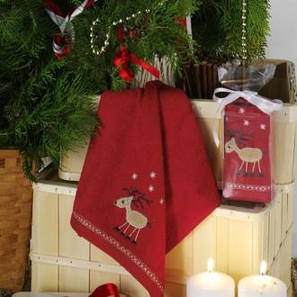 Полотенце в подарочной упаковке Karna NOEL 30*50 хлопковая махра (V4)