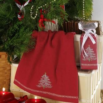 Полотенце в подарочной упаковке Karna NOEL 30*50 хлопковая махра (V6)